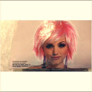 Short Pink & White PIXIE Wig: Highlights CosPlay